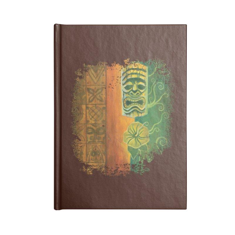 Tiki And Hibiscus Accessories Notebook by Zerostreet's Artist Shop