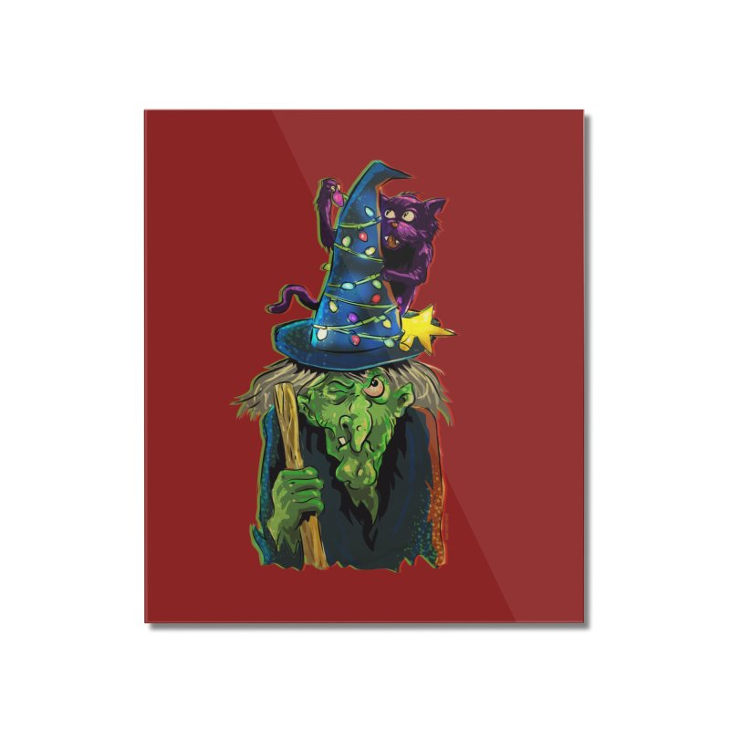 Witchmas Home Mounted Acrylic Print by Zerostreet's Artist Shop