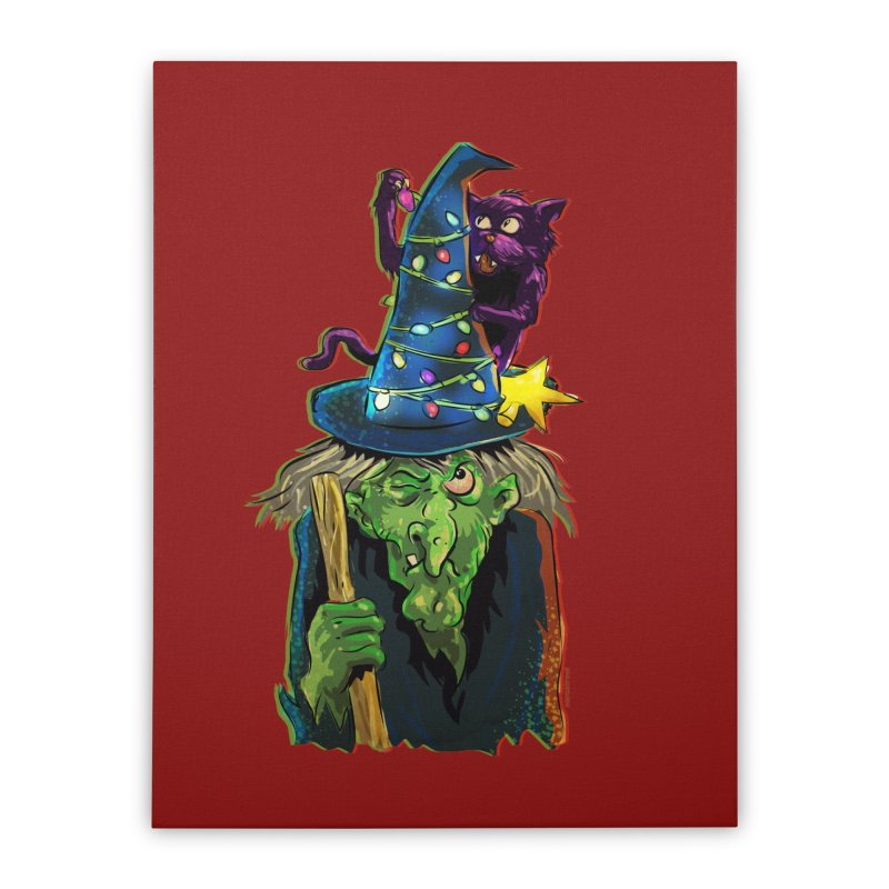 Witchmas Home Stretched Canvas by Zerostreet's Artist Shop