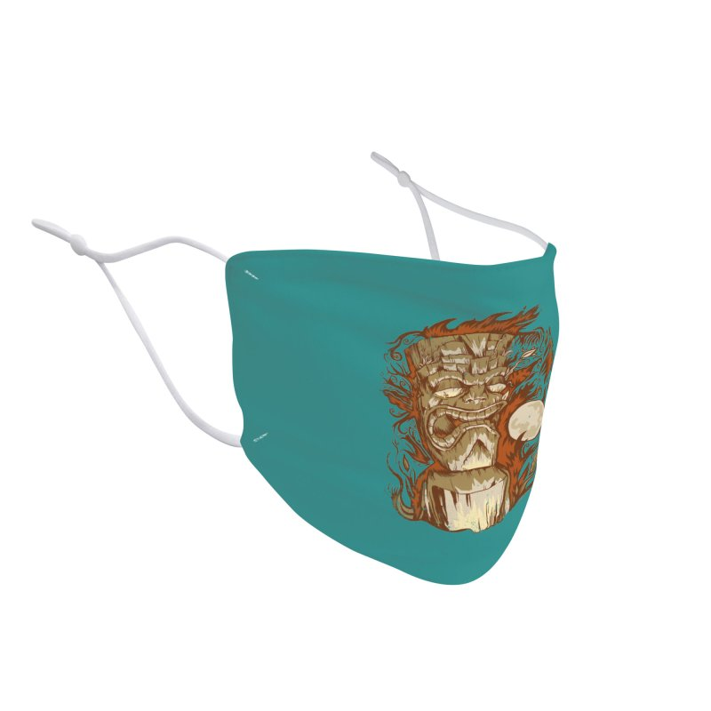 Tiki & Moon No. 16 Accessories Face Mask by Zerostreet's Artist Shop