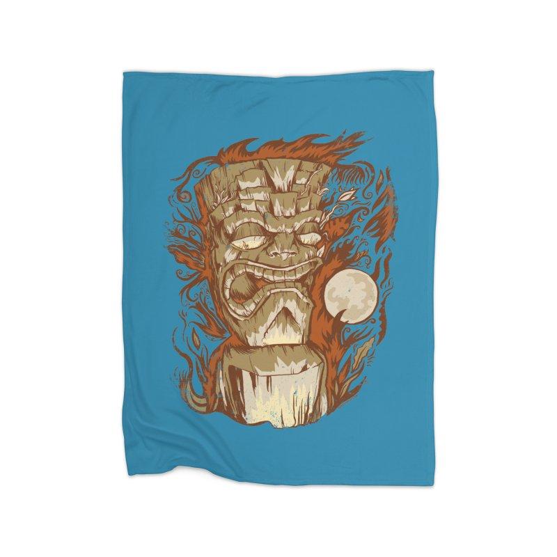 Tiki & Moon No. 16 Home Blanket by Zerostreet's Artist Shop