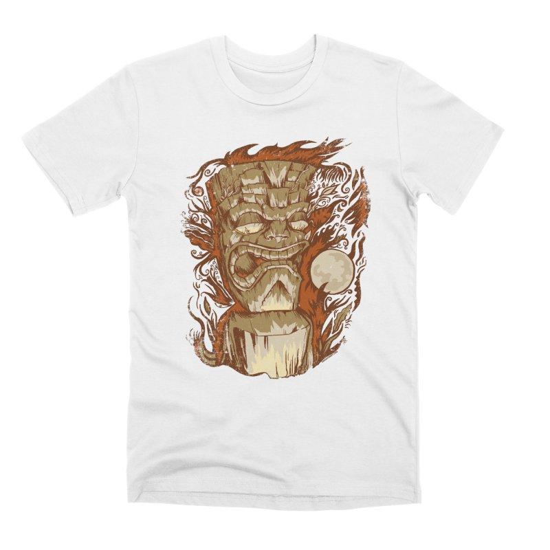 Tiki & Moon No. 16 Men's T-Shirt by Zerostreet's Artist Shop