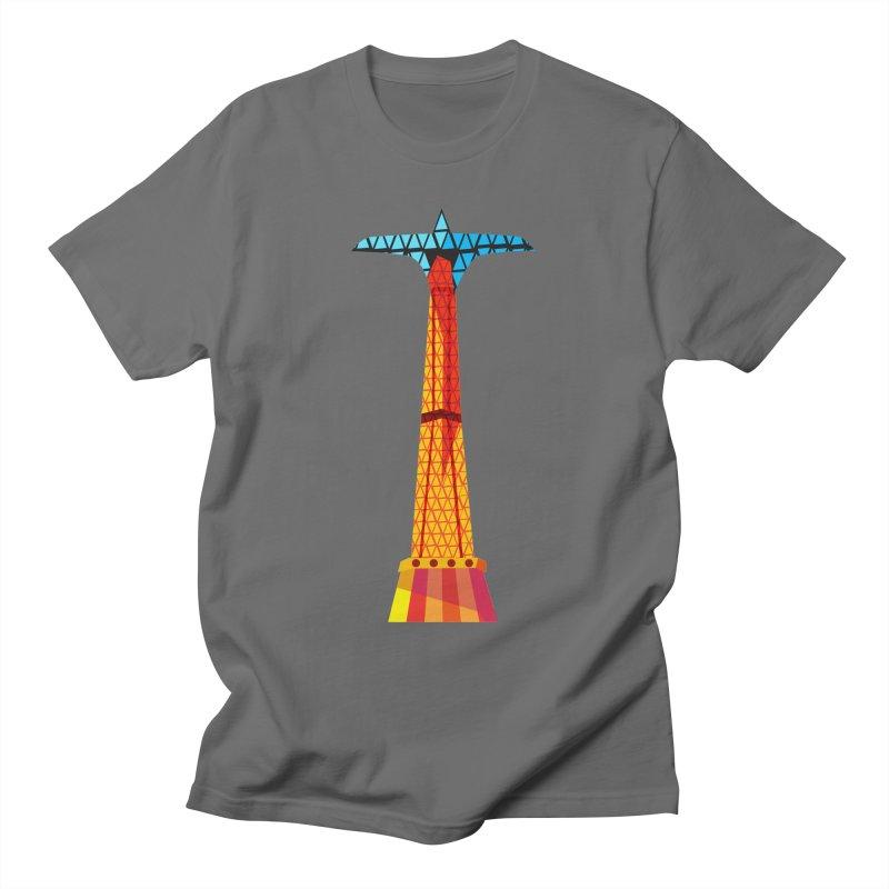 Coney Island Parachute Jump Men's T-Shirt by Zerostreet's Artist Shop