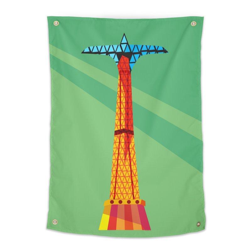 Coney Island Parachute Jump Home Tapestry by Zerostreet's Artist Shop