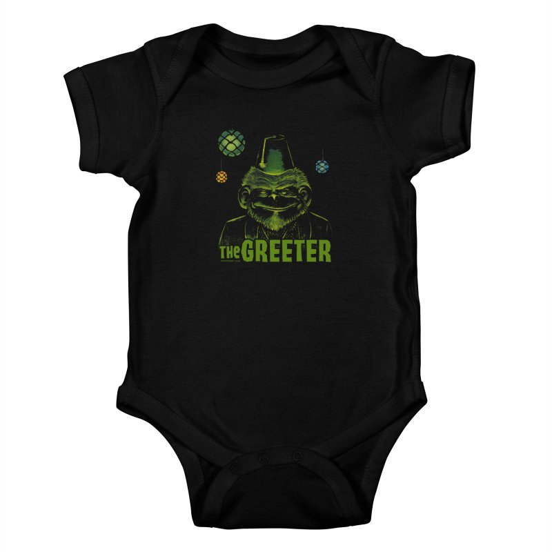 The Greeter Kids Baby Bodysuit by Zerostreet's Artist Shop