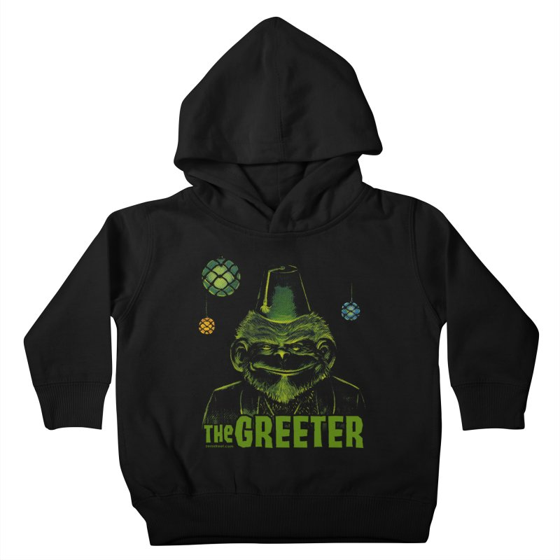The Greeter Kids Toddler Pullover Hoody by Zerostreet's Artist Shop