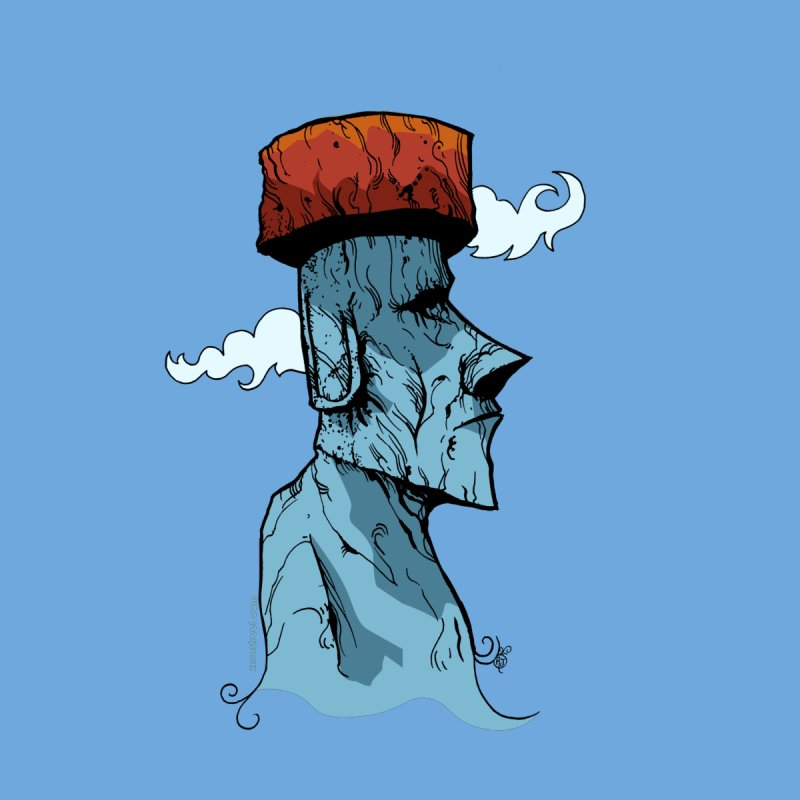 Moai Dreams by Zero Street's Artist Shop