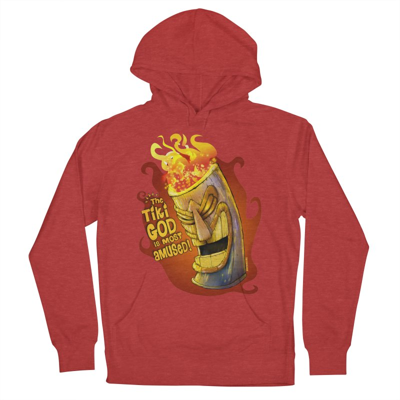 The Tiki God Is Most Amused! Men's Pullover Hoody by Zerostreet's Artist Shop