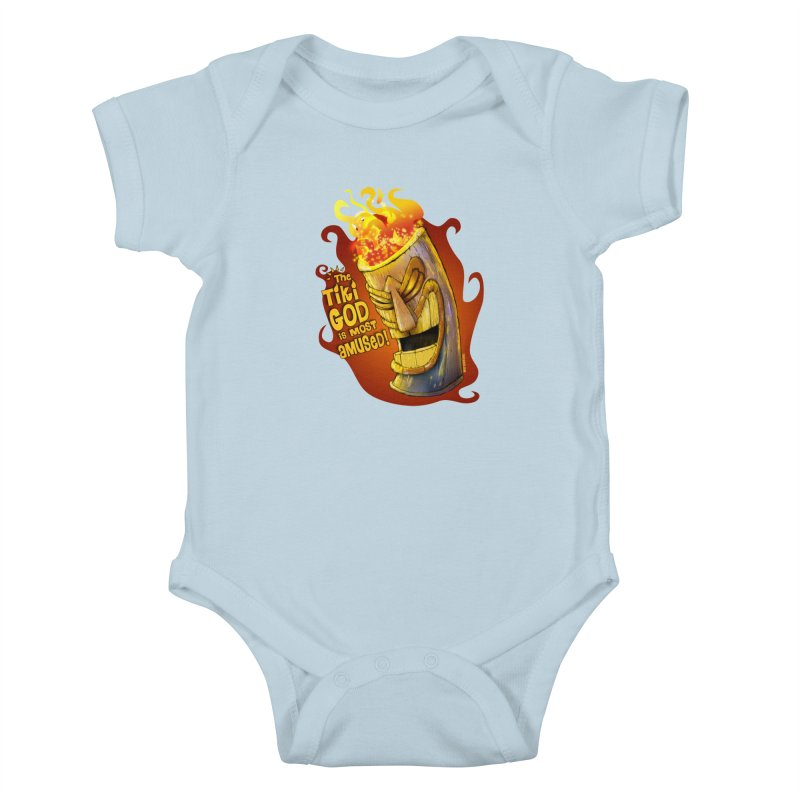 The Tiki God Is Most Amused! Kids Baby Bodysuit by Zerostreet's Artist Shop