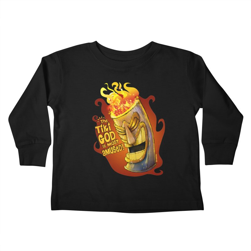 The Tiki God Is Most Amused! Kids Toddler Longsleeve T-Shirt by Zerostreet's Artist Shop