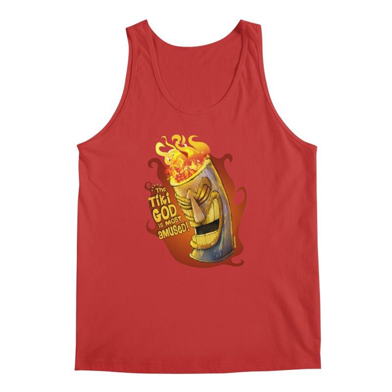 The Tiki God Is Most Amused! Men's Tank by Zerostreet's Artist Shop