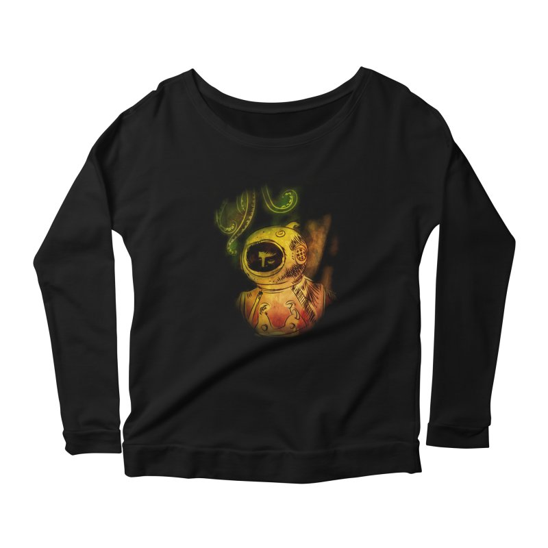 Deep Sea Diver Women's Longsleeve Scoopneck  by Zerostreet's Artist Shop