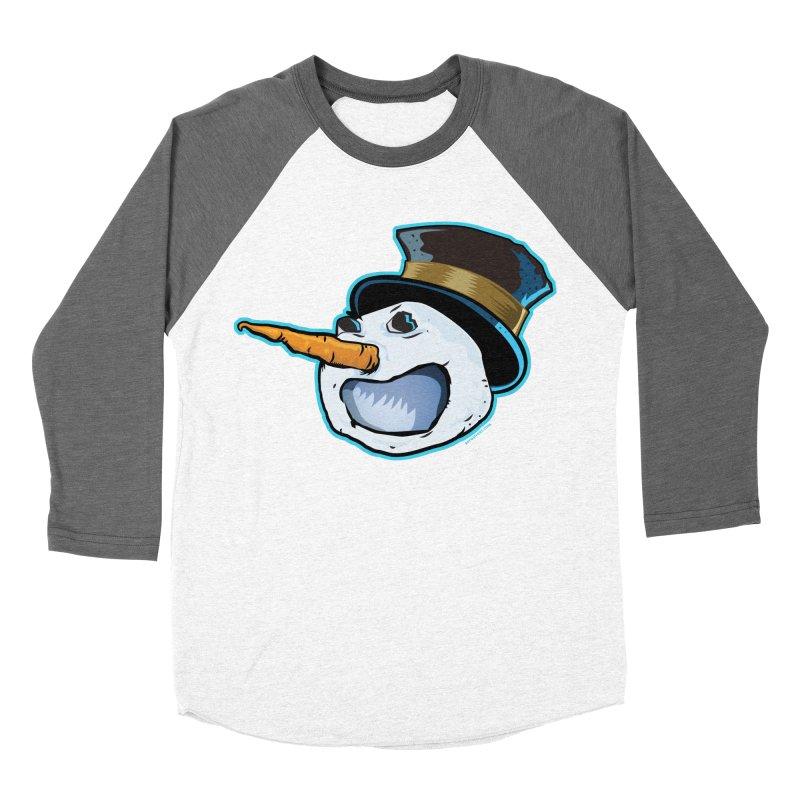 Snowman Head Women's Baseball Triblend T-Shirt by Zerostreet's Artist Shop