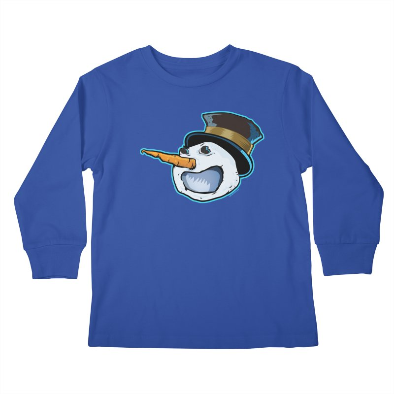 Snowman Head Kids Longsleeve T-Shirt by Zerostreet's Artist Shop