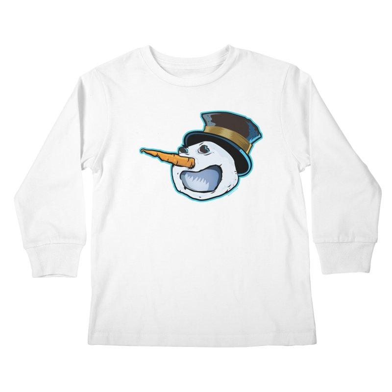 Snowman Head Kids Longsleeve T-Shirt by Zerostreet's Artist Shop