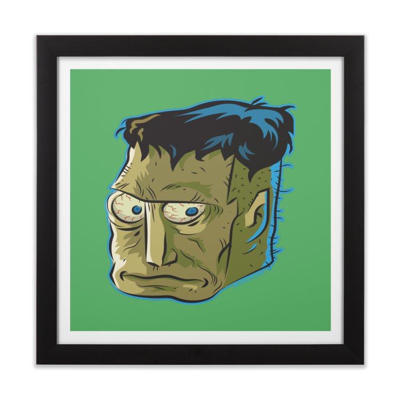 Blockhead Home Framed Fine Art Print by Zerostreet's Artist Shop