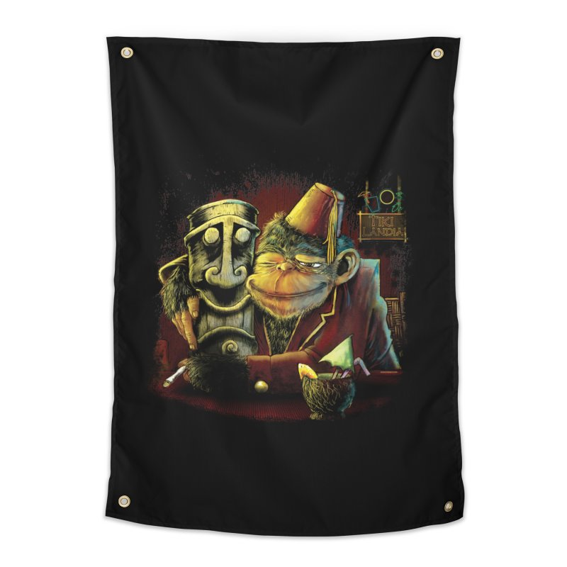 Last Call At Tikilandia Home Tapestry by Zerostreet's Artist Shop