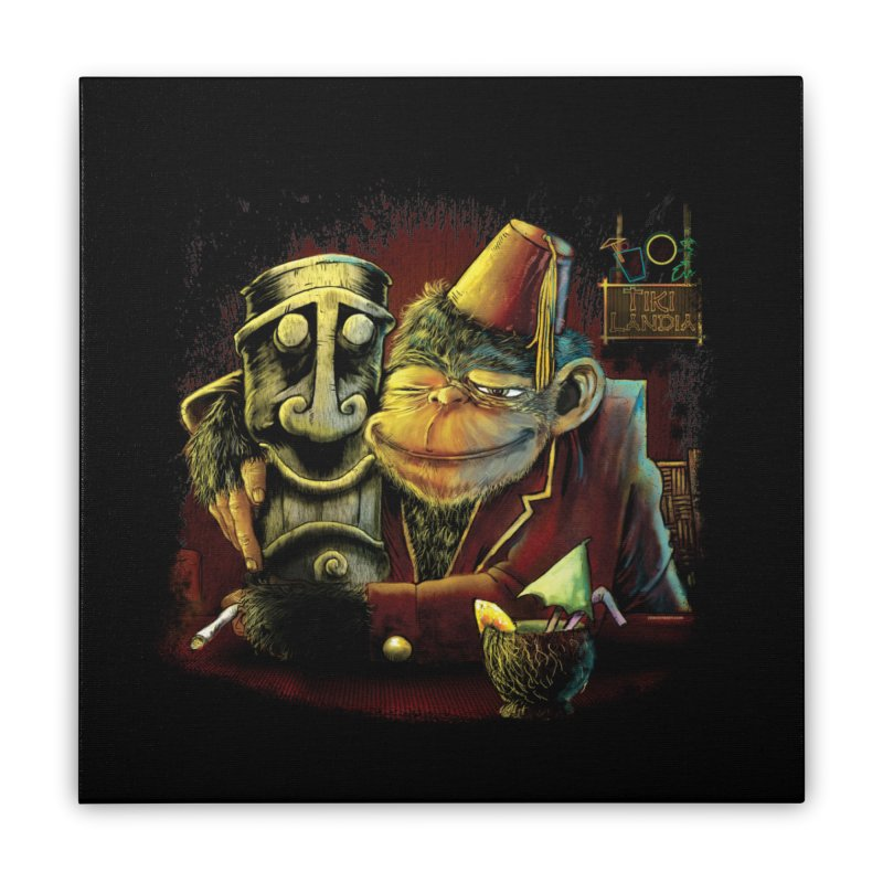 Last Call At Tikilandia Home Stretched Canvas by Zerostreet's Artist Shop