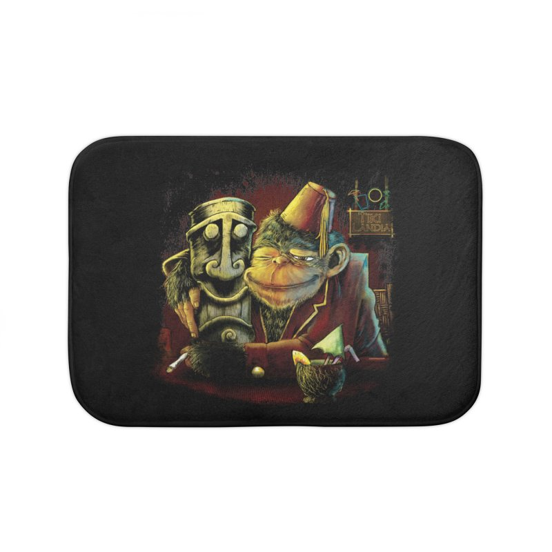 Last Call At Tikilandia Home Bath Mat by Zerostreet's Artist Shop