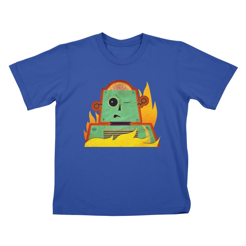 BRAINBOT Kids T-Shirt by Zerostreet's Artist Shop