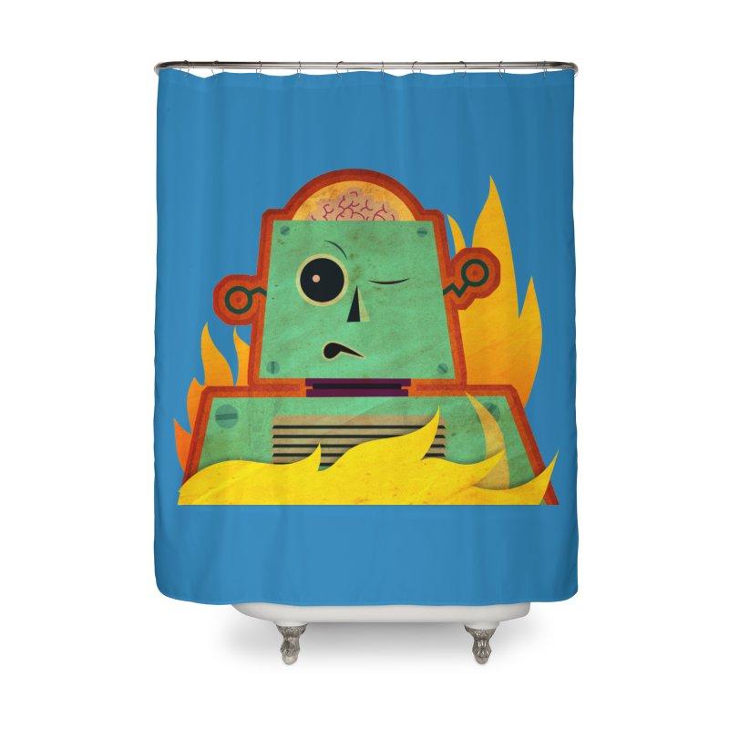 BRAINBOT Home Shower Curtain by Zerostreet's Artist Shop