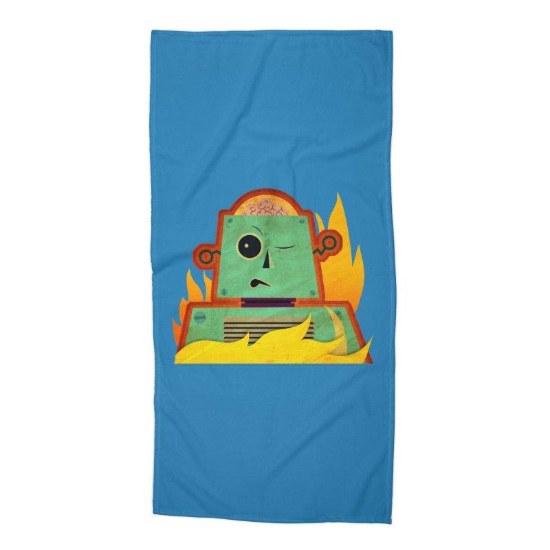 BRAINBOT Accessories Beach Towel by Zerostreet's Artist Shop