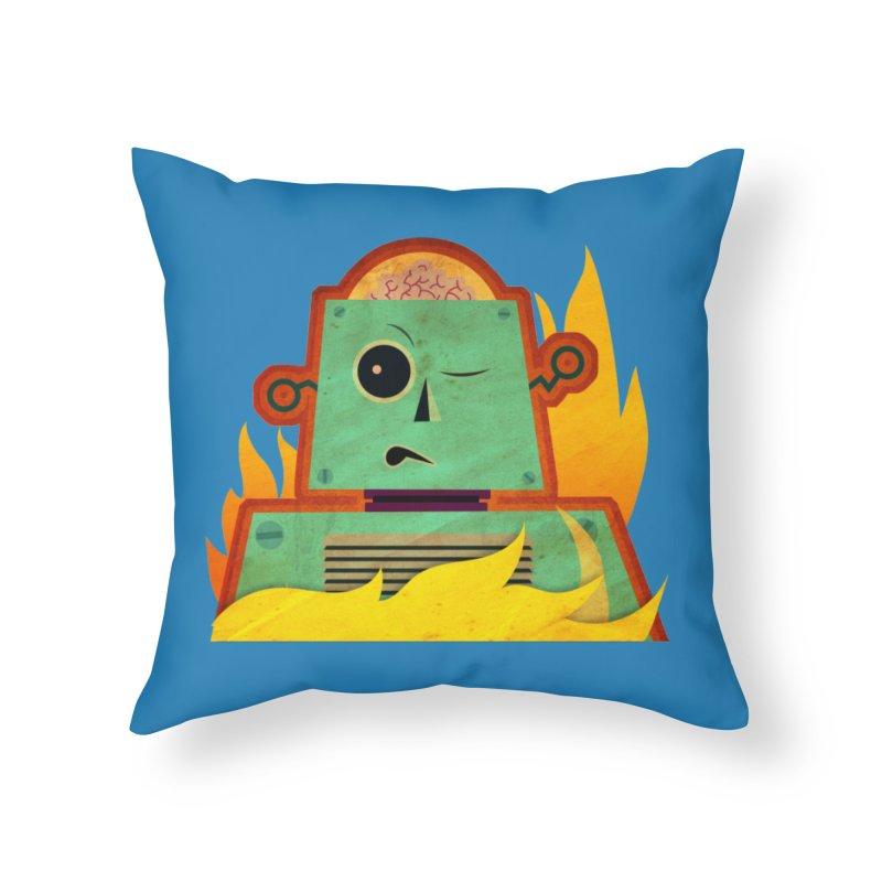 BRAINBOT Home Throw Pillow by Zerostreet's Artist Shop