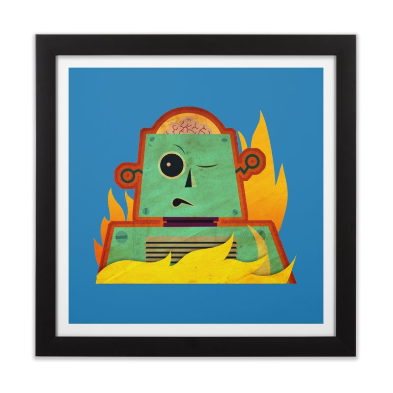 BRAINBOT Home Framed Fine Art Print by Zerostreet's Artist Shop