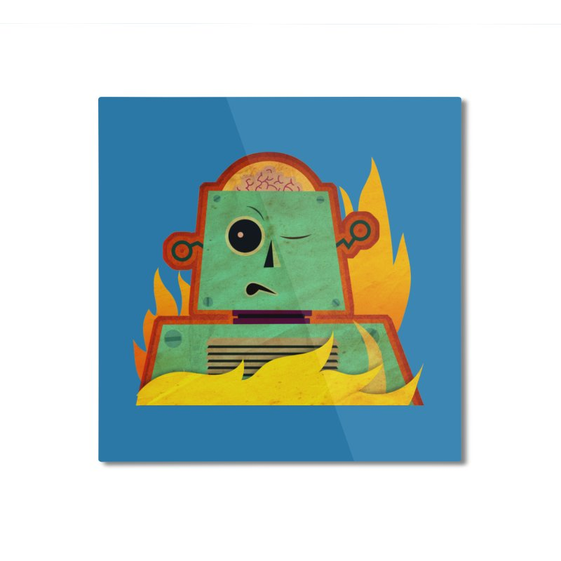 BRAINBOT Home Mounted Aluminum Print by Zerostreet's Artist Shop