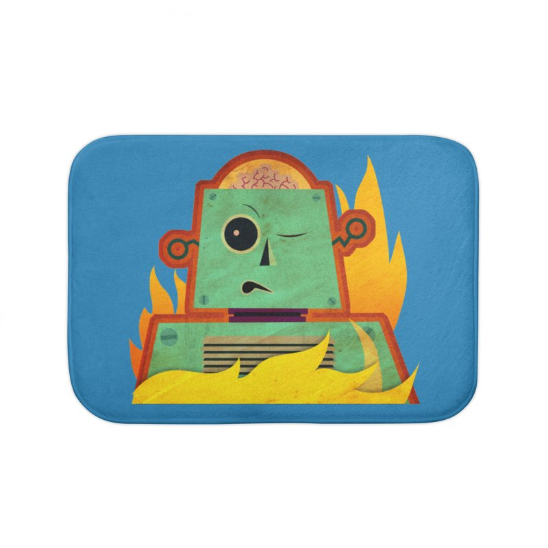 BRAINBOT Home Bath Mat by Zerostreet's Artist Shop