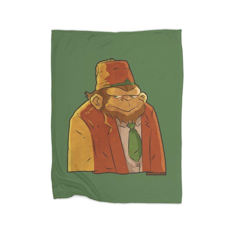 Rusty The Chimp Home Blanket by Zerostreet's Artist Shop
