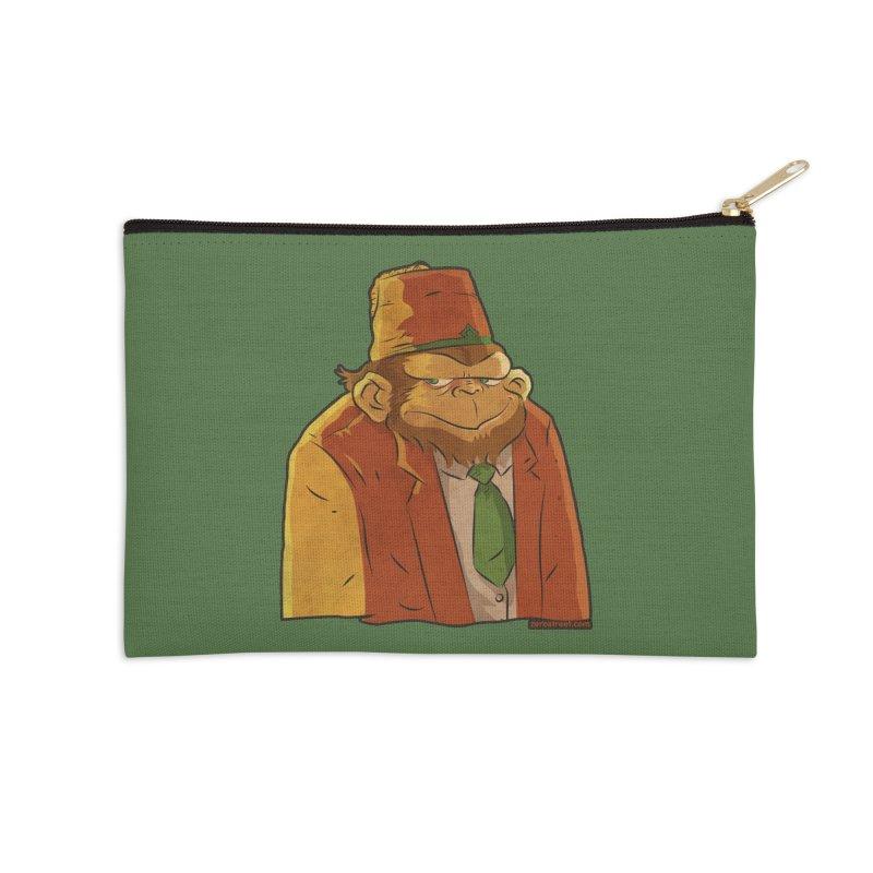 Rusty The Chimp Accessories Zip Pouch by Zerostreet's Artist Shop