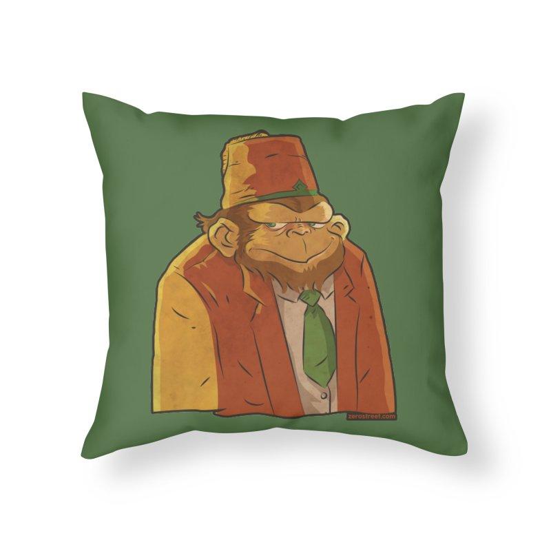 Rusty The Chimp Home Throw Pillow by Zerostreet's Artist Shop