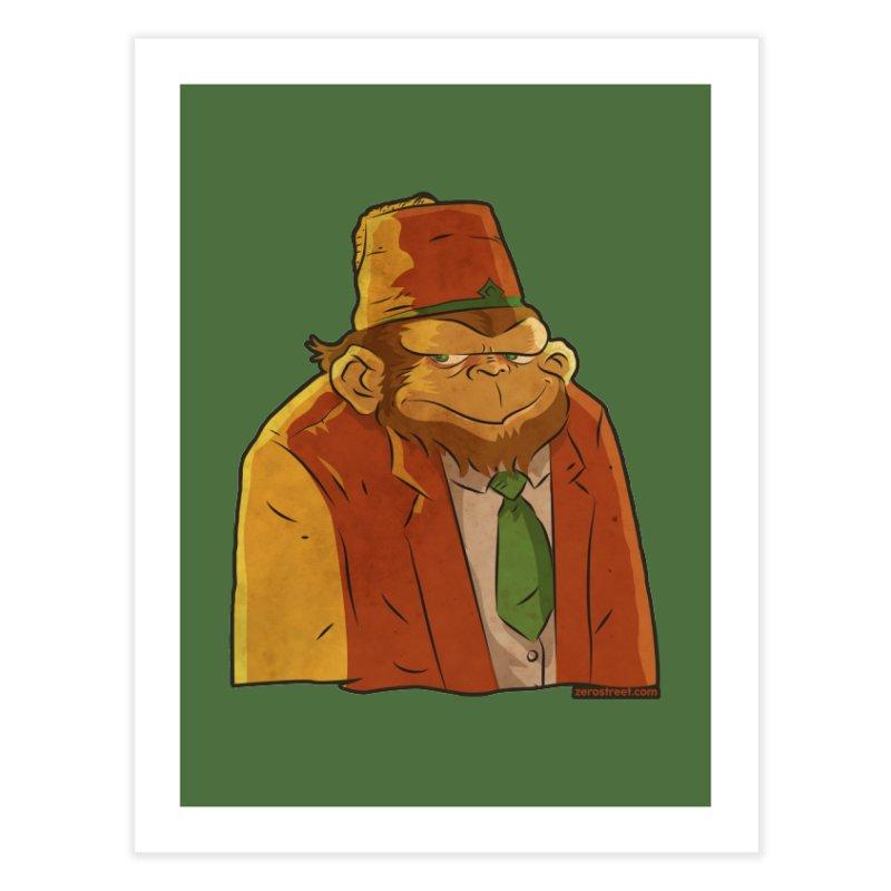 Rusty The Chimp Home Fine Art Print by Zerostreet's Artist Shop