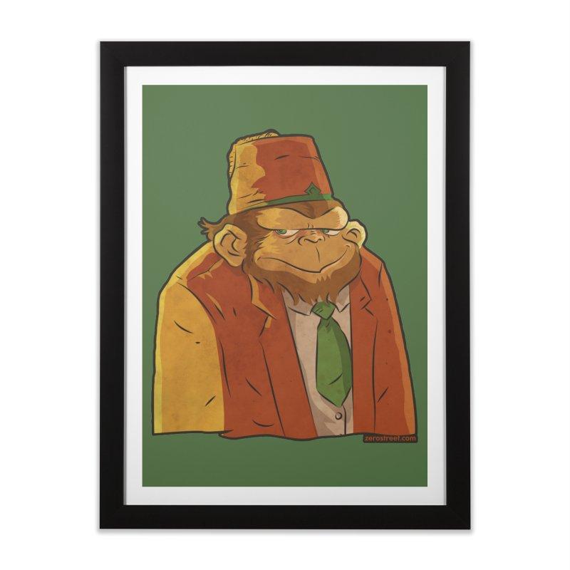 Rusty The Chimp Home Framed Fine Art Print by Zerostreet's Artist Shop