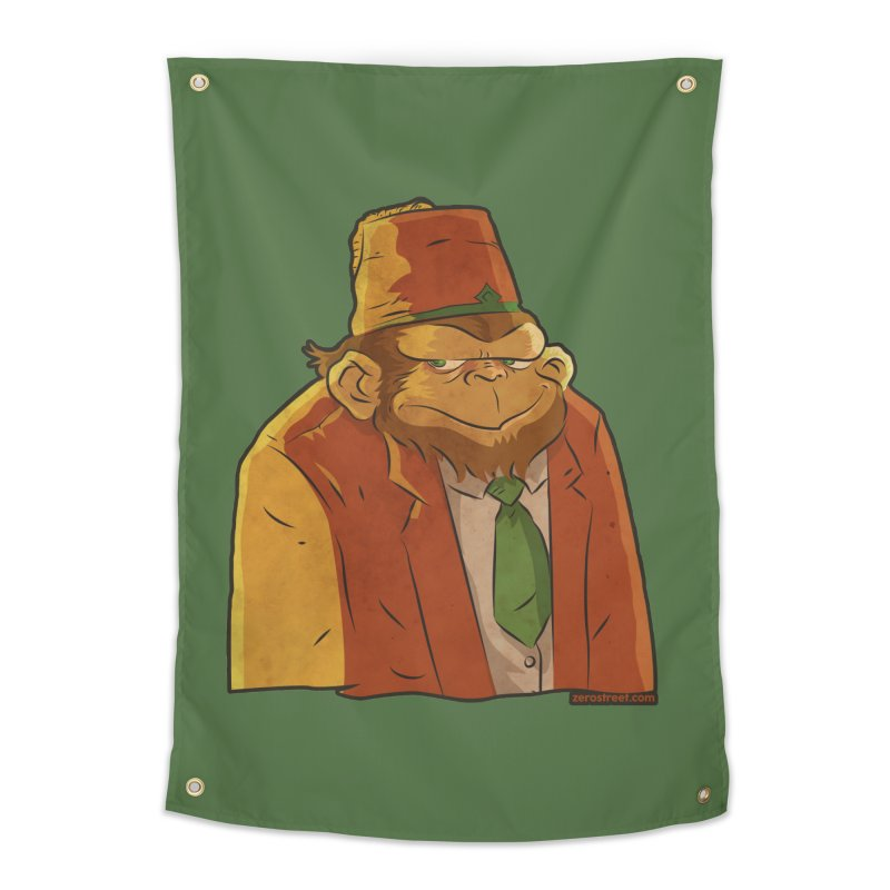 Rusty The Chimp Home Tapestry by Zerostreet's Artist Shop