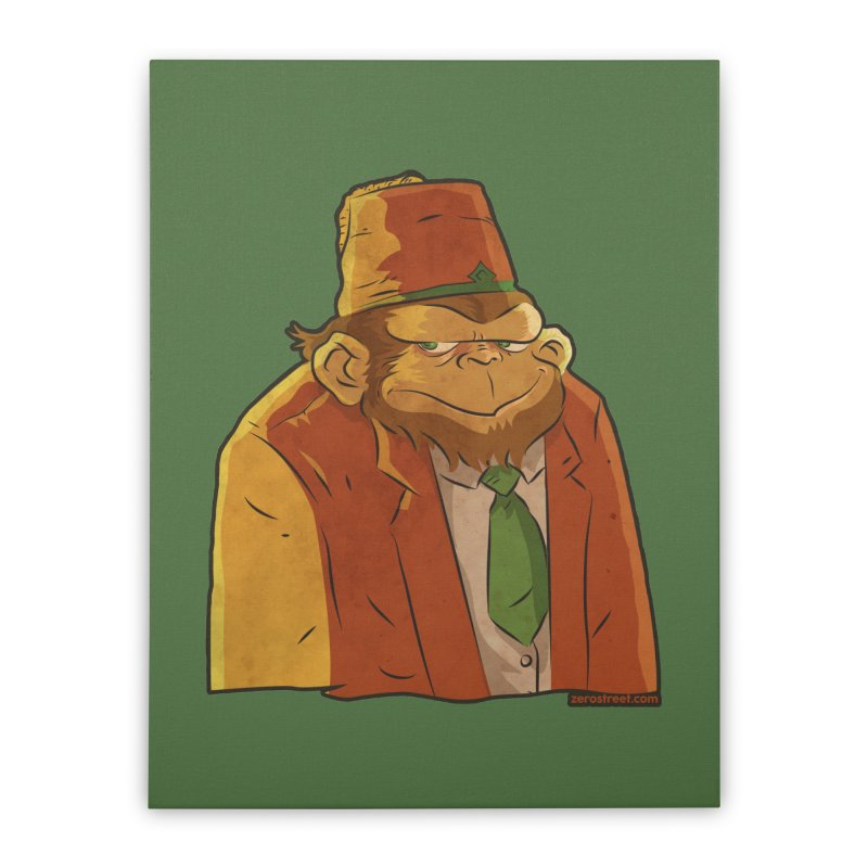 Rusty The Chimp Home Stretched Canvas by Zerostreet's Artist Shop