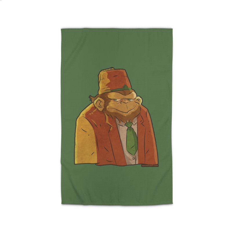 Rusty The Chimp Home Rug by Zerostreet's Artist Shop