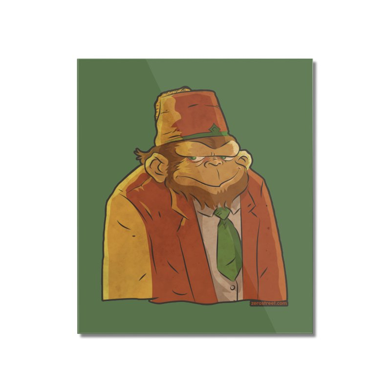 Rusty The Chimp Home Mounted Acrylic Print by Zerostreet's Artist Shop