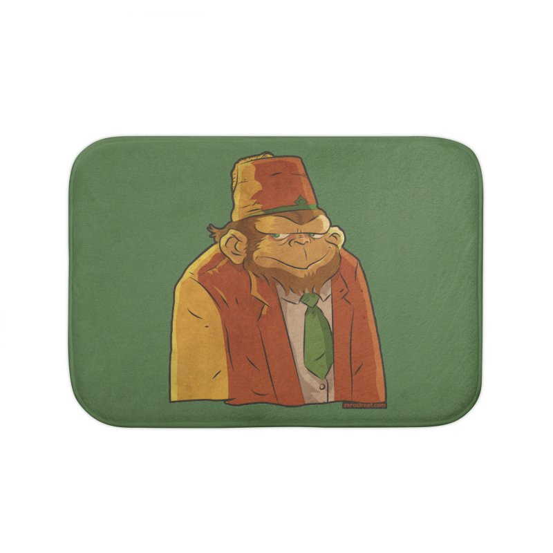 Rusty The Chimp Home Bath Mat by Zerostreet's Artist Shop