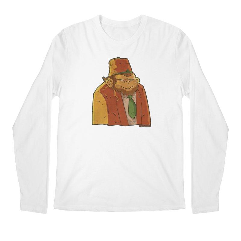 Rusty The Chimp Men's Regular Longsleeve T-Shirt by Zerostreet's Artist Shop