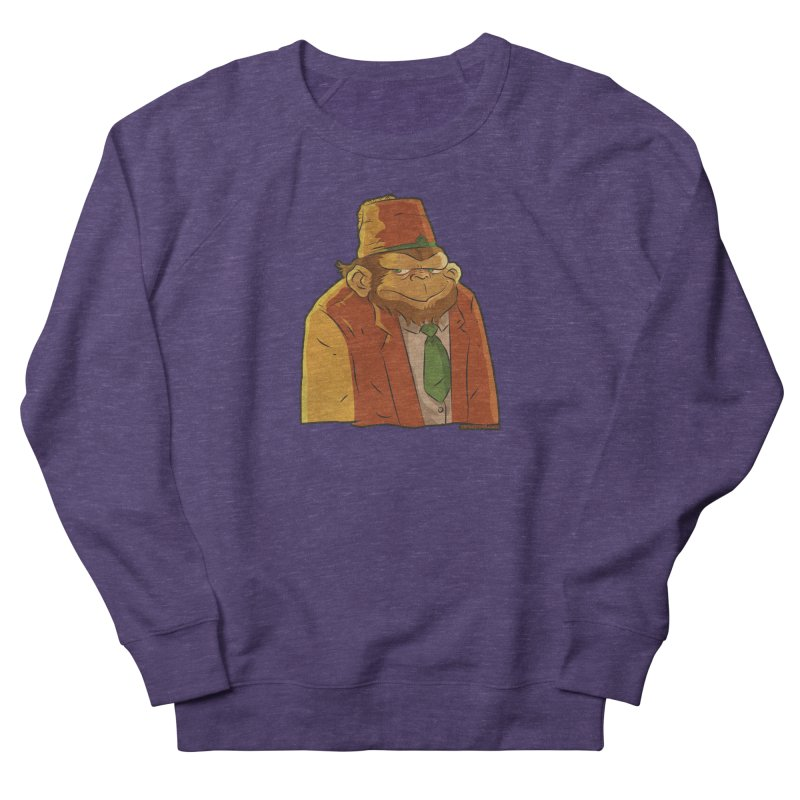 Rusty The Chimp Women's French Terry Sweatshirt by Zerostreet's Artist Shop