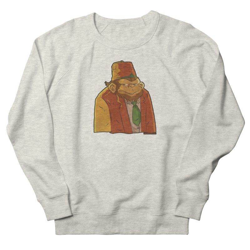 Rusty The Chimp Men's French Terry Sweatshirt by Zerostreet's Artist Shop
