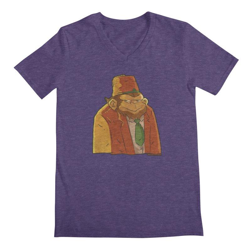Rusty The Chimp Men's Regular V-Neck by Zerostreet's Artist Shop