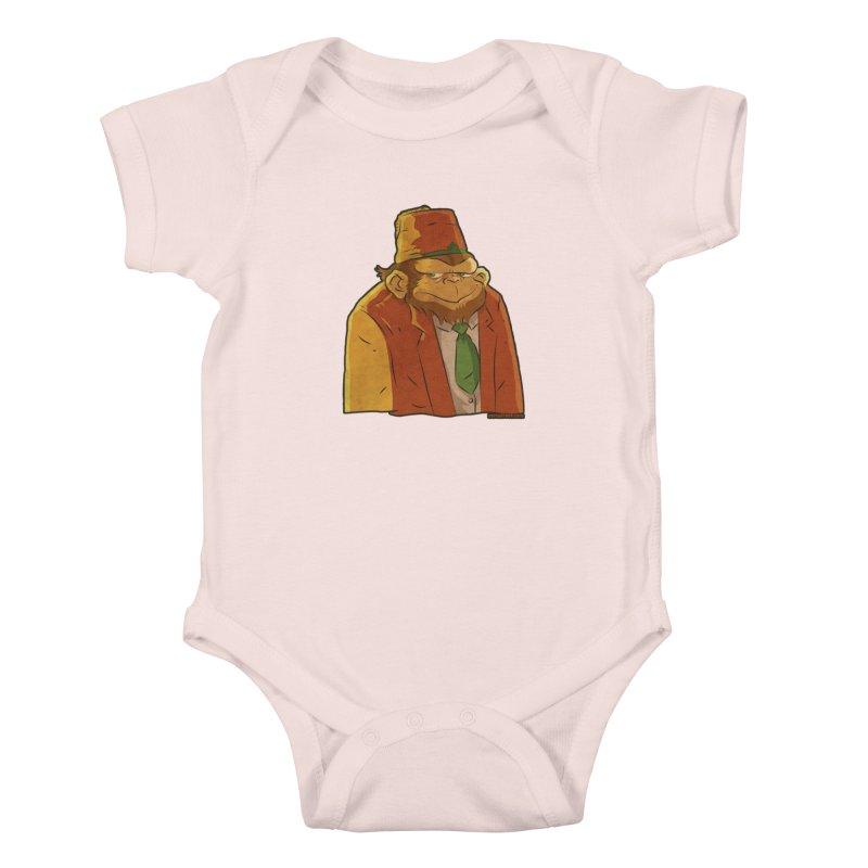 Rusty The Chimp Kids Baby Bodysuit by Zerostreet's Artist Shop