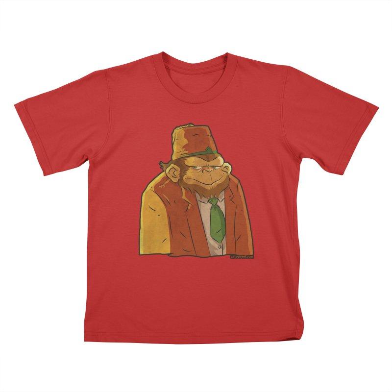 Rusty The Chimp Kids T-Shirt by Zerostreet's Artist Shop