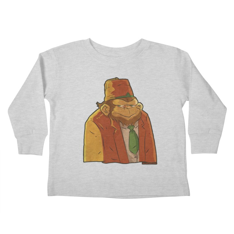Rusty The Chimp Kids Toddler Longsleeve T-Shirt by Zerostreet's Artist Shop