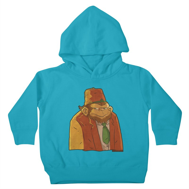 Rusty The Chimp Kids Toddler Pullover Hoody by Zerostreet's Artist Shop