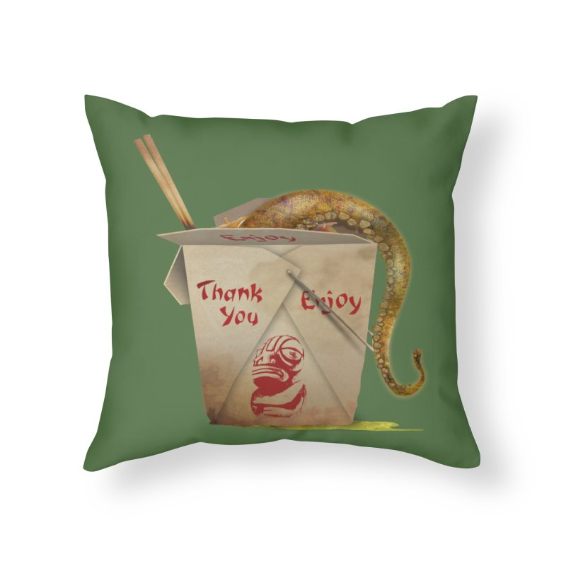 TENTACLE TAKE-OUT Home Throw Pillow by Zerostreet's Artist Shop