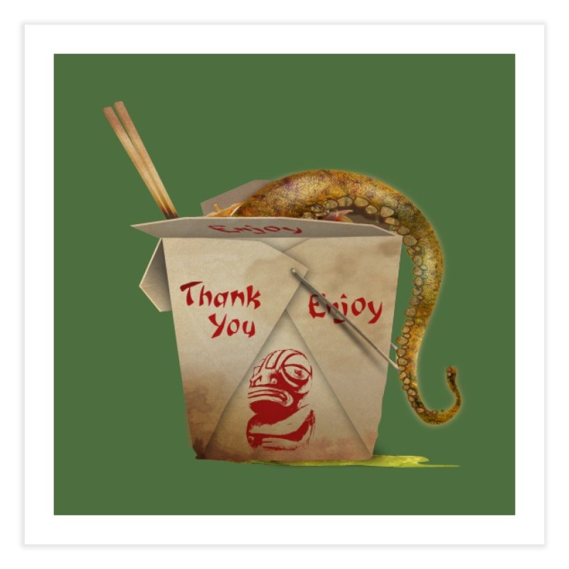 TENTACLE TAKE-OUT Home Fine Art Print by Zerostreet's Artist Shop